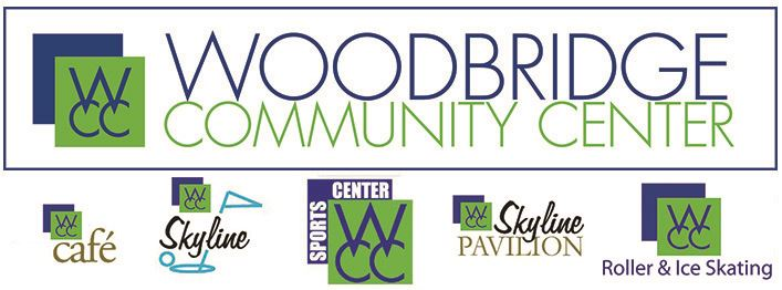 Community Center logo with Cafe, Skyline, Sports Center, Skyline Pavilion, and Roller and Ice Skatin