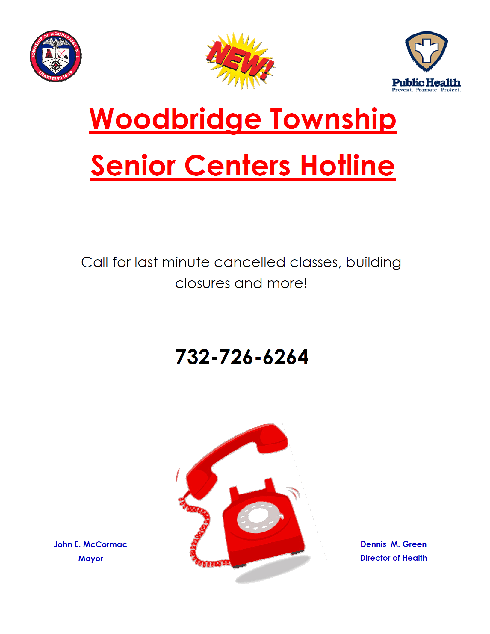 Senior Center Hotline