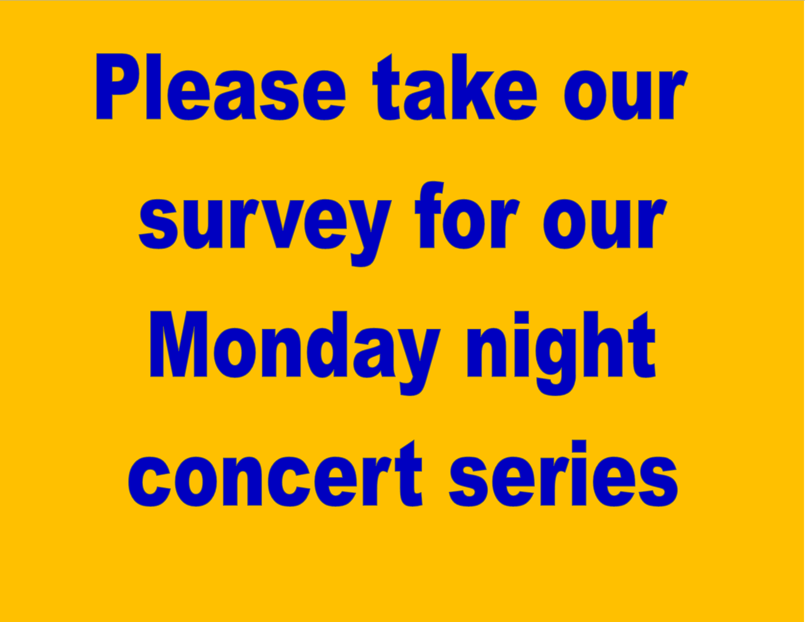 Monday survey