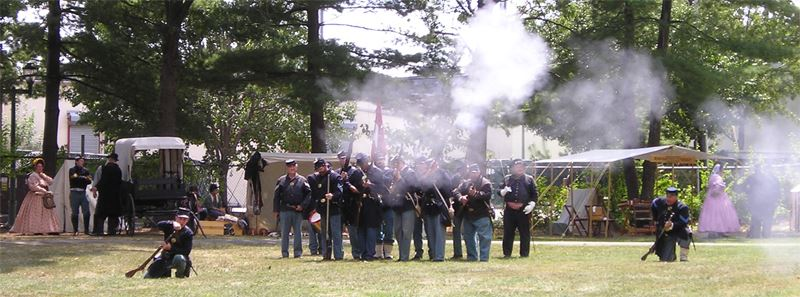 Civil War Encampment - Parker Press Park