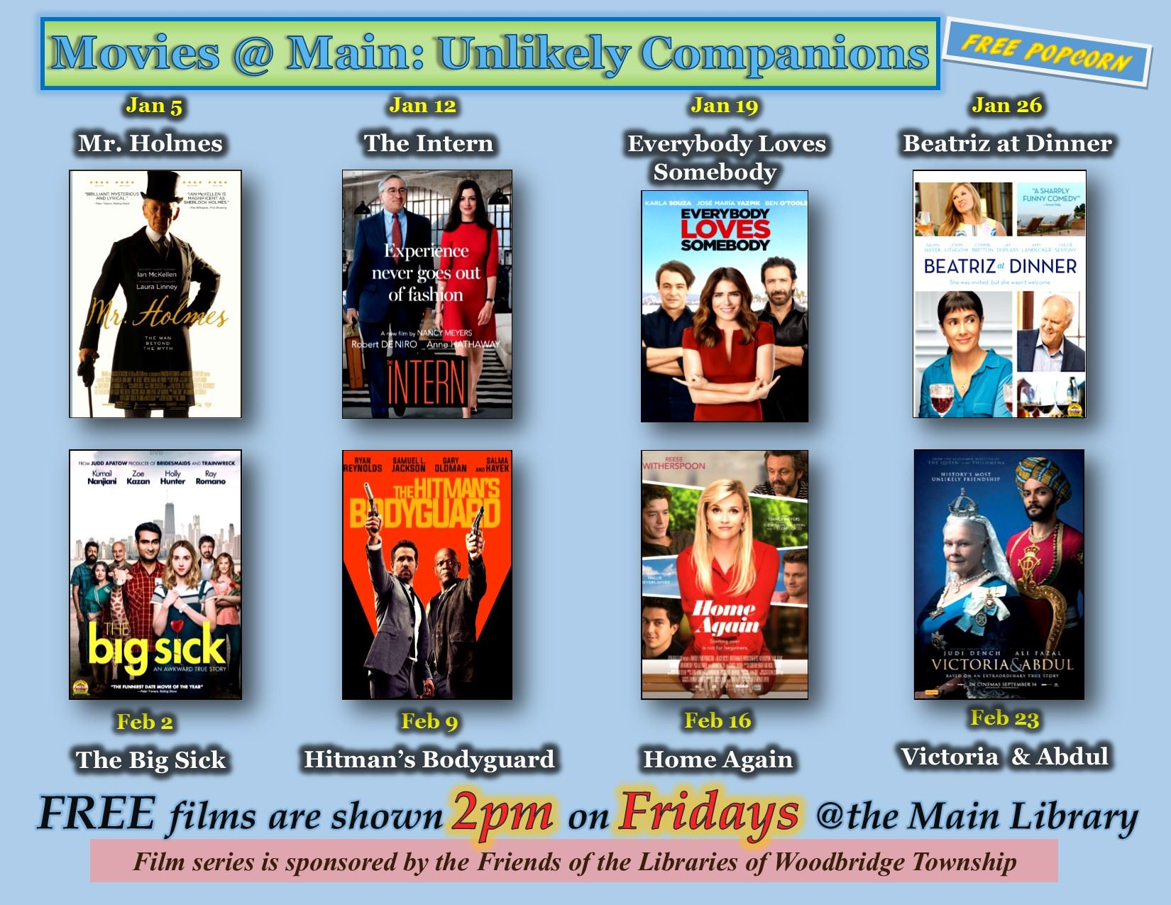 WPL Jan-Feb 2018 Film Schedule