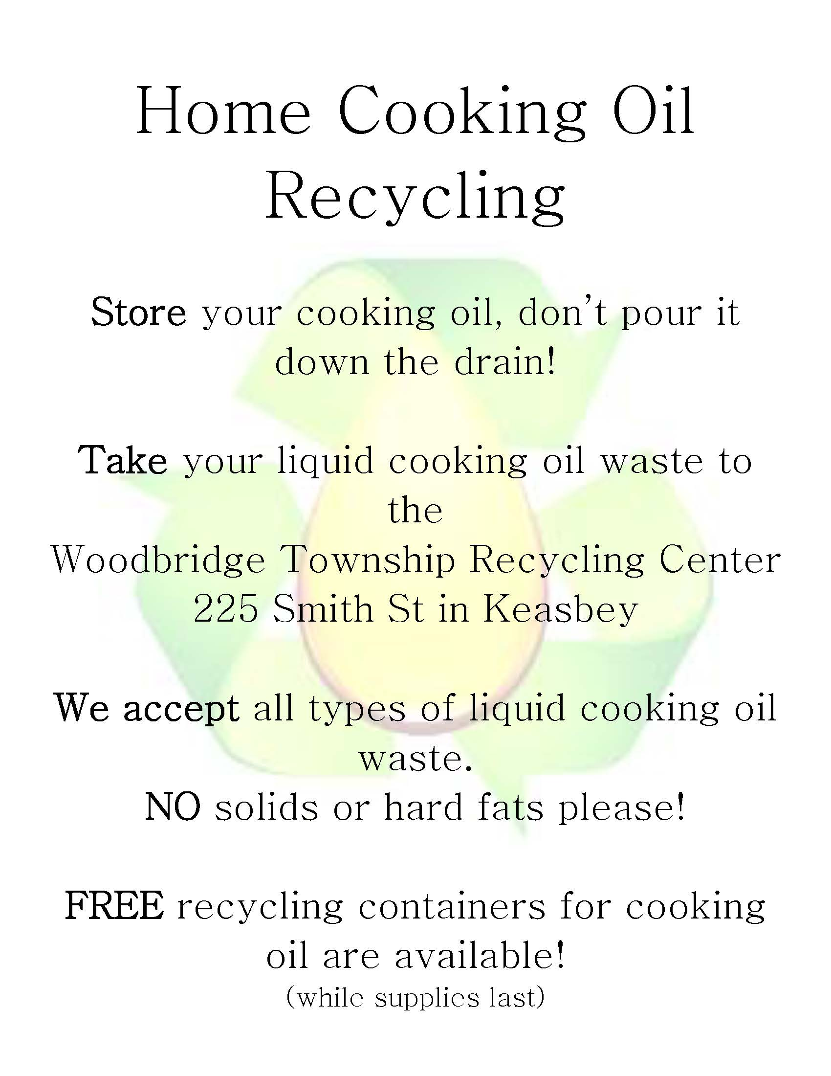Flyer-Home Cooking Oil Recycling