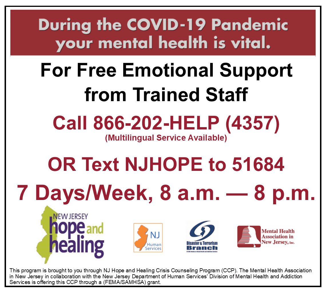 NJHOPE COVID Mental Support